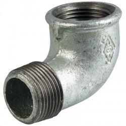 Coude Mâle / Femelle 92 en fonte galvanisée - 15 x 21 mm - CAP VERT - Coudes mâle - femelle - BR-448543