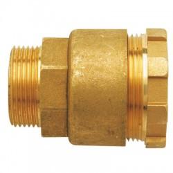 Raccord droit Mâle en laiton - ⌀ 20 mm - HUOT - Raccords à serrage extérieur - BR-452645