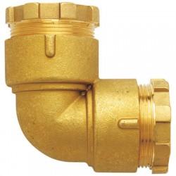 Coude égal en laiton - ⌀ 20 mm - HUOT - Raccords à serrage extérieur - BR-452726