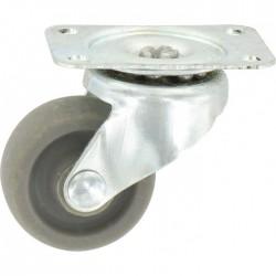 Roulette Mini-Roll à platine pivotante - 42 x 32 mm - GUITEL - Accessoires de meuble - BR-454796