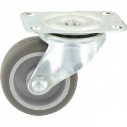 Roulette Mini-Roll à platine pivotante - 62 x 50 mm - GUITEL - Accessoires de meuble - BR-454834