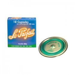 Capsule LE PARFAIT Familia Wiss - ⌀ 100 mm - Verte - Boîte de 12 - Bocaux / Fermetures - BR-460577