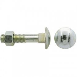 Boulon Japy tête ronde collet carré - ⌀6 x 40 mm - Lot de 4 - FIX'PRO - Boulon Tête ronde - BR-480508