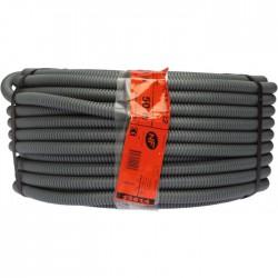 Gaine ICTA avec tire-fil - 50 M - Diamètre 16 mm - Gris - Gaines électriques - BR-585750