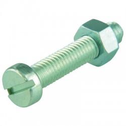 Boulon tête cylindrique fendue acier zingué - ⌀ 5 x 50 mm - Lot de 6 - FIX'PRO - Autres boulons - BR-487528