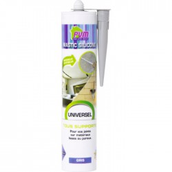 Mastic universel gris - 310 ml - PVM - Mastic sanitaire - BR-822541