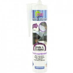 Mastic translucide pour salle de bains - 310 ml - PVM - Mastic sanitaire - BR-822536