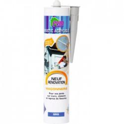 Mastic gris pour maçonnerie / fissures - 310 ml - PVM - Mastic maçonnerie - BR-822534