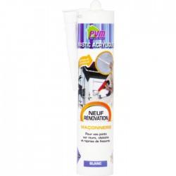 Mastic blanc pour maçonnerie / fissures - 310 ml - PVM - Mastic maçonnerie - BR-822532