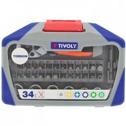Coffret assortiment de vissage Tivoly - 34 pièces - TIVOLY - Douille / Cliquet - BR-124576