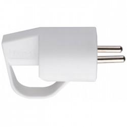 Fiche plastique 2P+T-10/16 A Dhome - Mâle - Blanc - Avec anneau - Prises / Fiches / Adaptateurs - BR-052935