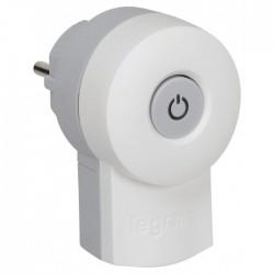 Fiche avec interrupteur - 2P + T - Blanc - LEGRAND - Prises / Fiches / Adaptateurs - BR-101549
