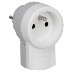 Fiche avec prise 2P + T - 250 V - LEGRAND - Prises / Fiches / Adaptateurs - BR-101550