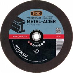 Disque abrasif à moyeu plat métaux ⌀ 300mm x 2.5 mm - alésage 25.4 mm - SCID - Disque - BR-869851