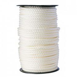 Bobine de 100 m Drisse tressé blanc - ⌀8 mm - Cordage - BR-083194
