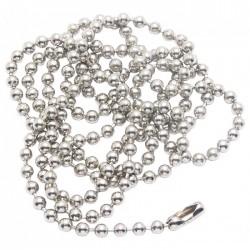 Bobine chaîne boule laiton chromé de 50 m - ⌀3.2 mm - Câble / Chaîne - BR-036942