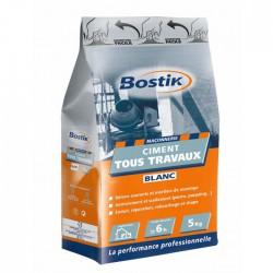 Ciment tous travaux - Blanc - 5 Kg - BOSTIK - Ciment et Plâtre - BR-700175