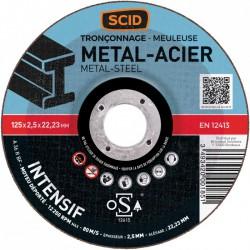 Disque à tronçonner métaux - Usage fréquent - 125 x 2.5 mm - SCID - Disque - BR-869827