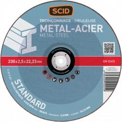 Disque à tronçonner standard - Métaux - Diamètre 230 mm - SCID - Disque - BR-671510