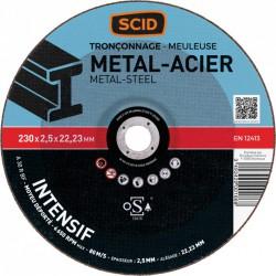 Disque à tronçonner métaux - Usage fréquent - 230 x 2.5 mm - SCID - Disque - BR-869828
