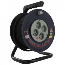 Enrouleur bricolage Dhome - H05 VV-F 3G 1,5 mm² - Longueur 25 m - Enrouleurs - BR-243051