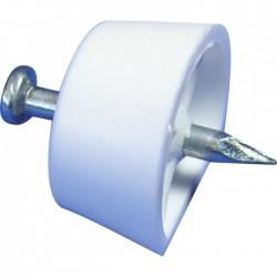 Taquet clou - Blanc - Vendu par 12 - STRAUSS - Équerre / Taquet - BR-399531
