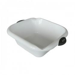 Cuvette carrée bimatière - 8 L - blanc - LAGUELLE - Bassine et seau - BR-312136