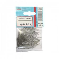 Pointes placage acier - 0.9 x 25 mm - 220 unités - VYNEX - Pointes et Clous - DE-327445