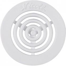 Grille d'aération contre-cloison - Diamètre 45 mm - Blanc - NICOLL - Étanchéité / Isolation - SI-364490