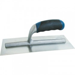 Platoir lame courbée Inox - Poignée bi-matière - OUTIBAT - Outils pour collage et enduit - BR-717100