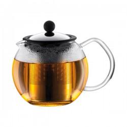 Théière à piston 0.5 L Assam - filtre inox, brillant de BODUM - Pour le Thé, Café, petit déjeûner - DE-625012