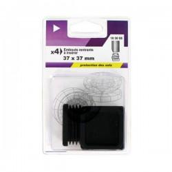 Embout rentrant carré en plastique noir 37mm - VYNEX - Accessoires de meuble - DE-555458
