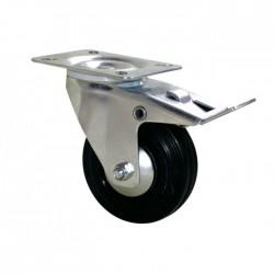 Roulette Port-roll - 100 mm - Pivotante à frein - GUITEL - Accessoires de meuble - BR-559555