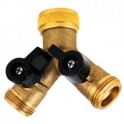 Sélecteur en Y pour robinet - 20 x 27 mm - CAP VERT - Sélecteur 2 / 3 voies - BR-588115