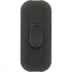 Interrupteur de fil souple 2 A - Noir - L'EBENOàD - Interrupteurs luminaires - BR-610283