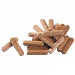 Tourillon en bois dur SCID - Dimensions 6 x 30 mm - Vendu par 100 - Équerre / Taquet - BR-651107