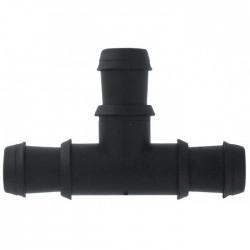Té cannelé pour tuyau de 16 mm - Lot de 6 - CAP VERT - Raccords et jonctions - BR-654413