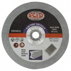 Disques à tronçonner - Métaux - Diamètre 115 mm - Alésage 22,2 mm - SCID - Disque - BR-671508
