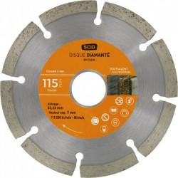 Disque diamant - Couronne segmentée - 115 mm - SCID - Disque - BR-704138