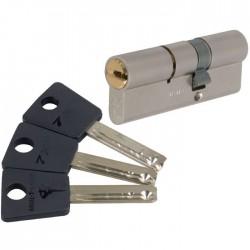 Cylindre 2 entrées 7 x 7 Varié Nickelé - Mul-T-Lock - 40 mm / 40 mm - Cylindres - SI-710617