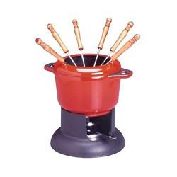 Service fondue - Rouge - INVICTA - Service à fondue - DE-714402