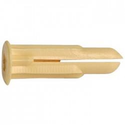 Cheville crampon avec collerette-plastique - ⌀ 2 à 5 mm - Lot de 100 - Chevilles - BR-788100