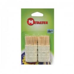 Cure-dents en bois - 2x100 - METALTEX - Accessoires / Dessous de plat - DE-794370