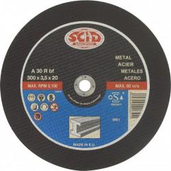 Disque abrasif à moyeu plat métaux ⌀300mm alésage 25,4mm - SCID - Disque - BR-869849