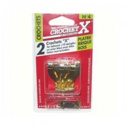 Crochet X N°4 - Crochet à tableau - CROCHET X - Crochet et support adhésif - DE-865394