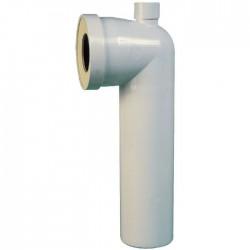 Pipe longue ⌀ 100, à prise d'air - ภ100 x 350 mm - Raccordement WC - SI-902110