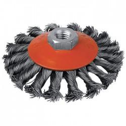 Brosse cuvette - Mèches acier torsadées - 115 mm - SCID - Bande et patin abrasif - BR-005725