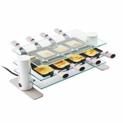 Appareil à raclette - 8 coupelles - Transparence - Plateau en verre - LAGRANGE - Raclette / Pierrade - 9801