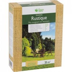 Gazon rustique enrichi - 20 m² - 0.5 Kg - LES DOIGTS VERTS - Gazon et pelouse - BR-817431