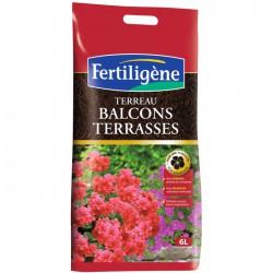 Terreau balcons et terrasses - 6 L - FERTILIGENE - Terreau - BR-131399